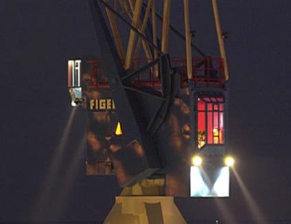 Hotel dentro gru porto esterno di Amsterdam