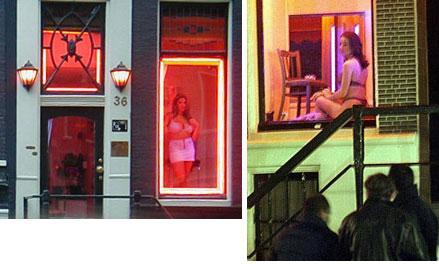Amsterdam, Prostituta in Vetrina