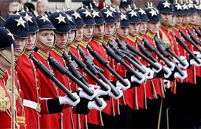 Prinsjesdag, i Soldati Olandesi durante l'Evento