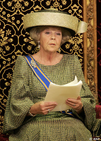 Prinsjesdag, la Sovrana Beatrice sul Trono