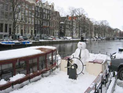 Amsterdam in Inverno, il Battello ghiacciato