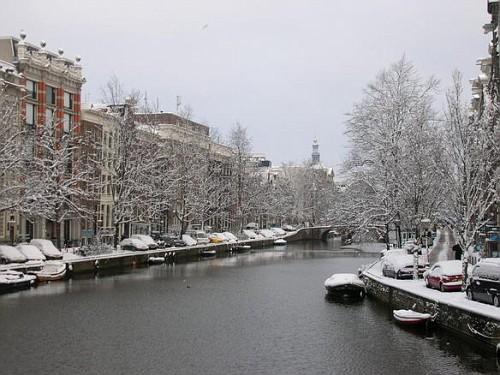 Amsterdam in Inverno, i Canali Ghiacciati