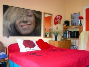 Bed and Breakfast letto con rose
