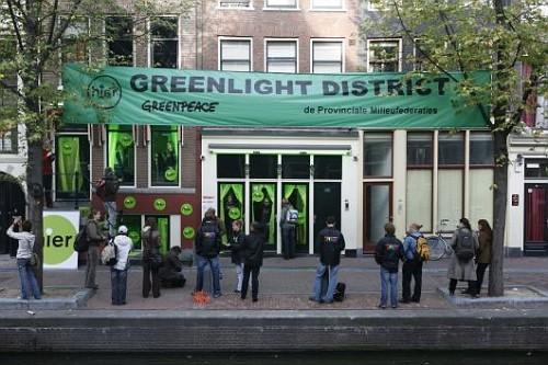 Le luci rosse di Amsterdam diventano verdi