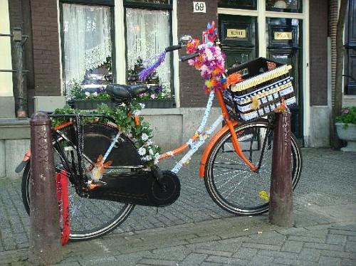 Amsterdam, Bici decorata con Fiori
