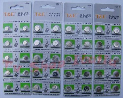140 batterie orologi 14 sigle alcaline da ag0 ad ag13 ebay for Batterie orologi tabella